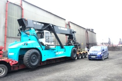 Plane and forklift moving services by DW Forklift Services Ltd